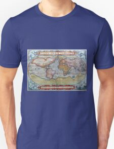 Colorful Antique Vintage World Map Ortelius T-Shirt