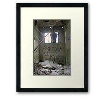Abandon All Hope Framed Print