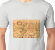 Colorful Antique Vintage Map of the World Unisex T-Shirt