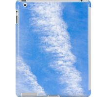 Blue sky background with clouds iPad Case/Skin