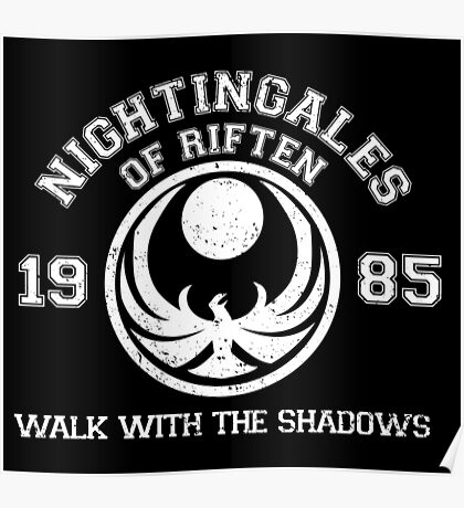 Nightingales of riften - black Poster