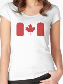 Beer Can-ada Women's Fitted Scoop T-Shirt