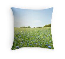 Cornflower field Throw Pillow
