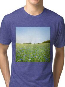 Cornflower field Tri-blend T-Shirt