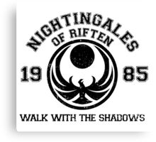 Nightingales of riften Canvas Print