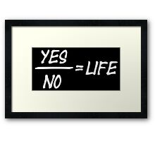 Yes/No Framed Print