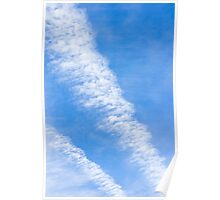 Clouds with blue sky Poster