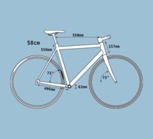 Racing Bike, Road Bike, Bicycle, Push Bike, Push bike, Bike Geometry, Angle, Cyclist, Cycle Kids Tee
