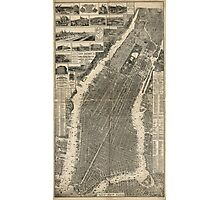 A birds-eye view of the heart of New York City 1879 Photographic Print
