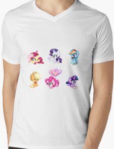Hearts n Hooves Mens V-Neck T-Shirt