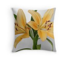 beautiful yellow flower  Throw Pillow