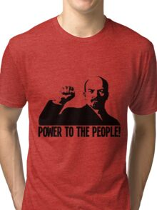 """POWER TO THE PEOPLE""-LENIN Tri-blend T-Shirt"