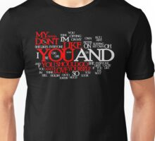 Lyric Cloud - Love Yourself v2 Unisex T-Shirt