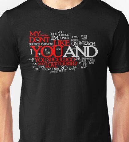 Lyric Cloud - Love Yourself v2 Unisex T-Shirt