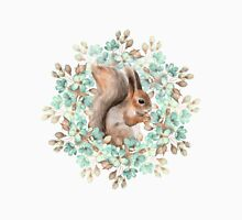 Squirrel and flowers Unisex T-Shirt