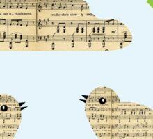 Animal Lover | Two Cute Musical Birds Sticker