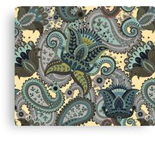 Indian Floral Paisley Pattern Canvas Print