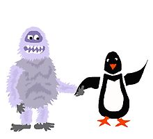 Cool Funny Abominable Snowman and Penguin Love by naturesfancy