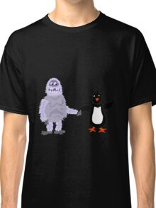 Cool Funny Abominable Snowman and Penguin Love Classic T-Shirt
