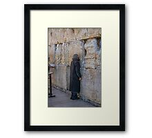 Western Wall Prayers Framed Print