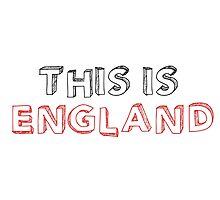 Football Soccer Fan England Photographic Print