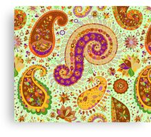 Indian Paisley 1 Pattern Canvas Print