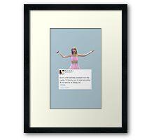 Taylor Sassy Swift Tweet Framed Print
