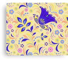 Ornamental Floral Pattern Canvas Print