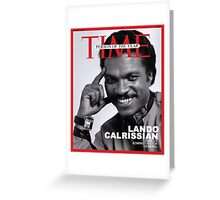 Lando Calrissian - Time Person of the Year Greeting Card