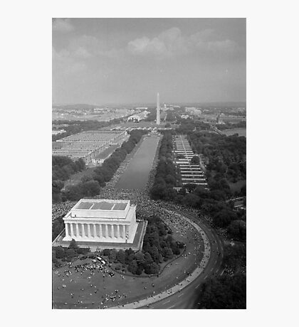 Aerial View of the March on Washington August 28 1963 Photographic Print