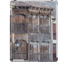Buildings facade detail on the medieval town of Penafiel, Spain iPad Case/Skin