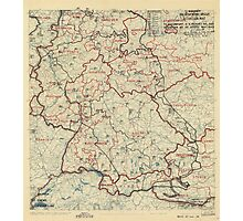 May 31 1945 World War II HQ Twelfth Army Group situation map Photographic Print