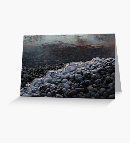 Smooth Stones and Ice - Take Two Greeting Card