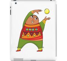 cheerful man with a ball iPad Case/Skin