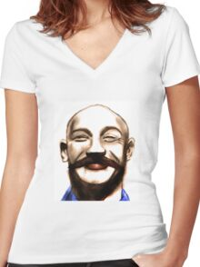 Tom Hardy as Bronson Women's Fitted V-Neck T-Shirt