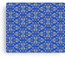 Royal Blue Pattern Canvas Print