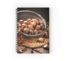 Roasted chestnuts and leaves Spiral Notebook