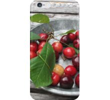 Cherries on a Plate iPhone Case/Skin