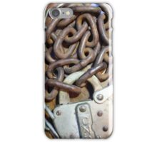Vintage CNR Gate Lock and Chain iPhone Case/Skin