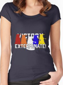 Victory of the Daleks Women's Fitted Scoop T-Shirt