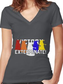 Victory of the Daleks Women's Fitted V-Neck T-Shirt