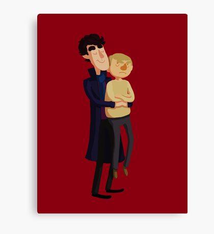 Put me down, Sherlock Canvas Print
