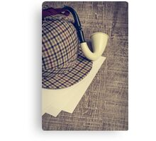 Sherlock Hat and Tobacco pipe Canvas Print