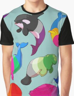 Sexuality Whales (And Aromanatee) Pattern Graphic T-Shirt