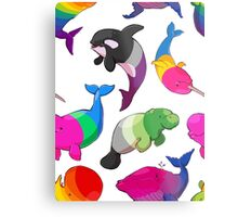 Sexuality Whales (And Aromanatee) Pattern Metal Print