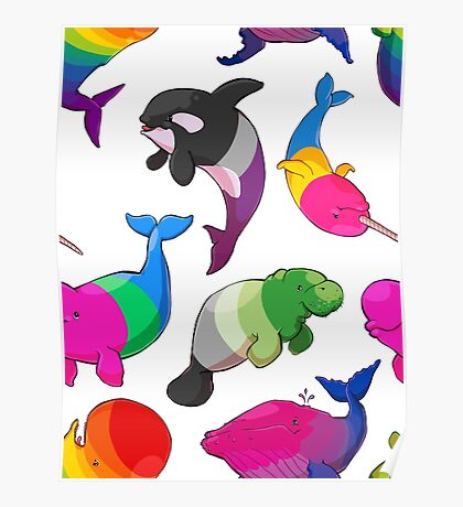Sexuality Whales (And Aromanatee) Pattern Poster