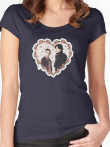 HEARTED JOHNLOCK Women's Fitted Scoop T-Shirt