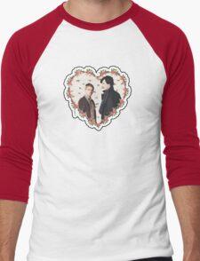 HEARTED JOHNLOCK Men's Baseball ¾ T-Shirt