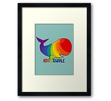 Homosexuwhale - with text Framed Print