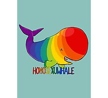 Homosexuwhale - with text Photographic Print